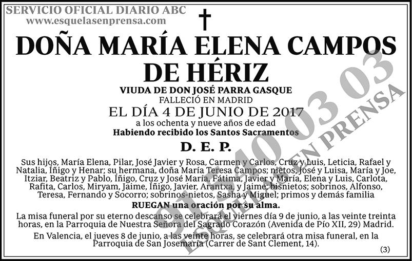 María Elena Campos de Hériz